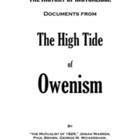 The History of Mutualism: Documents from the High Tide of Owenism