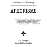 The Doctrine of Humanity--Aphorisms